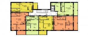 Kuokkalan Ilonan B-talo (Konsta), kerrokset 2-5